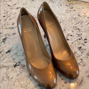 Stuart Weitzman brown patent leather heels